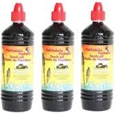 3x Farmlight fakkelolie - 1 liter + gratis aansteker
