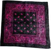 Paisley bandana zwart/roze - Zac's Alter Ego