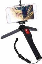 Letspro LY-11 3-in-1 handheld statief Zelfportret Monopod uitschuifbare selfie stick met externe sluiter voor smartphones, digitale camera's, GoPro sportcamera's