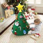 Vilten kinder kerstboom – 3 D kinder kerstboom met klittenband – kerst cadeau kinderen – DIY kinder kerstboom – kegelvorm 70 cm