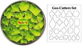 Makins Geo Clay Cutter Tin Set - uitstekers Fimo