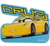 Disney Cars 3 Reuzegum Cruz 10 Cm Blauw/geel