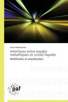 Interfaces Entre Oxydes M�talliques Et Cristal Liquide