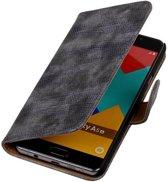 Mobieletelefoonhoesje.nl - Samsung Galaxy A5 (2016) Hoesje Hagedis Bookstyle Grijs