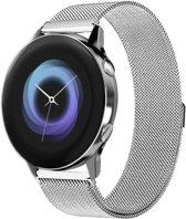 Milanese Loop Armband Voor Samsung Galaxy Watch Active 1/2 40/44 MM - Milanees Horloge Band - Zilver Kleurig