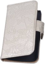 Lace Bookstyle Hoes voor Sony Xperia E3 D2203 Zilver