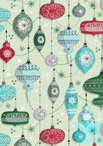 Cadeaupapier Kerstmis: Retro Christmas K691671-2 - Toonbankrol breedte 30 (breedte rol) cm - K691671-2-30cm