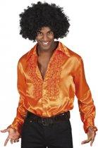 Voordelige oranje rouche blouse M