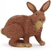 Plastic speelgoed bruin konijn 4 cm