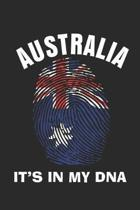 Australia It's In My Dna: Notebook/Diary/Taskbook/120 Lined Pages/6x9 inch