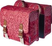 Basil Boheme Double Bag Dubbele Fietstas - 35 l - Vintage Rood