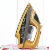Mediashopping HM497031 Stoomstrijkijzer Keramische zoolplaat 2200W Goud strijkijzer
