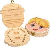 Tooth Fairy Box - Speciale luxe doos voor het bewaren van melktanden - Tandendoosje meisje