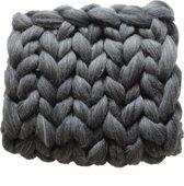 MELANGE GRIJS Wollen deken - babydekentje - kleed handgemaakt van XXL merino wol  100 x 100 cm - in 44 kleuren verkrijgbaar
