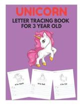 Unicorn Letter Tracing Book for 3 Year Old