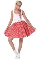 Rood 50's kostuum voor vrouwen - Verkleedkleding