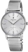 Festina F20250-1 Vintage - Horloge - Staal - Zilverkleurig - 36mm