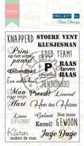 Marianne Design Stempel Project Nederlands  - Heren (Nederlands)