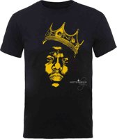 Biggie Smalls - Gold Crown heren unisex T-shirt zwart - L