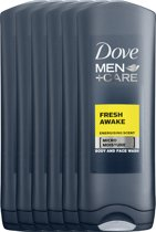 Dove Men+Care Fresh Awake - 6 x 250 ml - Douchegel - Voordeelverpakking