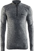 Craft Active Comfort Zip Sportshirt Heren - Black