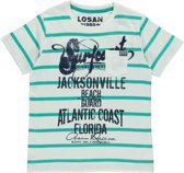 Losan Jongens Shirt Lichtbruin met streep K4 - Maat 128