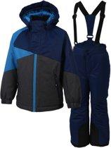 Color Kids Sacramento Ski Set  Skipak - Maat 98  - Unisex - navy/grijs/blauw