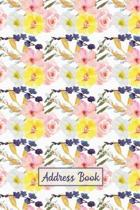 Address Book: Organizer and Notes with Alphabetical Tabs Pink Floral
