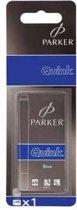 1x5 Parker Inktpatroon   Quink koningsblauw uitwasbaar