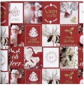 Vivi Gade Inpakpapier Kerstmotieven 300 X 50 Cm Rood