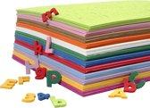 EVA Foam Cijfers & Letters, h: 20 mm, kleuren assorti, 24 assorti vel