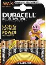 Duracell AAA Plus Power - 8 stuks