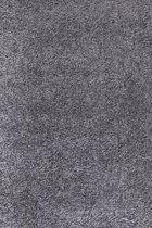 Hoogpolig shaggy vloerkleed 120x170cm grijs - 5 cm poolhoogte
