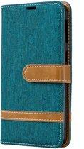 Samsung Galaxy A40 Hoesje - Denim Book Case - Groen