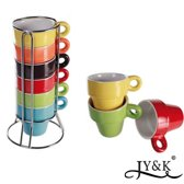 JY&K Espresso kopjes - 6 stuks - 40 ml - Porselein