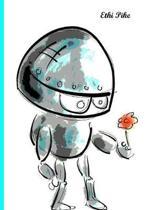 Ethi Pike - Lovestruck Robot Notebook / Extended Lines / Soft Matte Cover