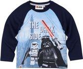 LEGO-Star-Wars-T-shirt-met-lange-mouw-marineblauw - Maat 104