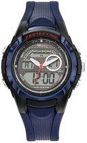Tekday 654014 analoog/ digitaal horloge 40 mm 100 meter blauw/ zwart