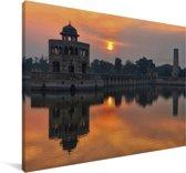 Zonsondergang boven Lahore Canvas 60x40 cm - Foto print op Canvas schilderij (Wanddecoratie woonkamer / slaapkamer)