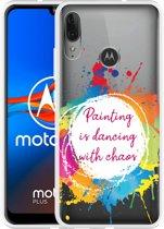 Motorola Moto E6 Plus Hoesje Painting