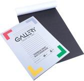 Gallery zwart tekenpapier formaat 21 x 297 cm A4 120 g m² 20 vel