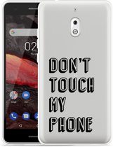 Nokia 2.1 Hoesje Don't Touch My Phone