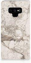 Samsung Galaxy Note 9 Standcase Hoesje Design Marmer Beige