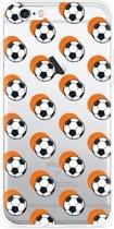 iPhone 6 Plus/6S Plus Hoesje Soccer Ball Orange Shadow