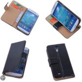 PU Leder Zwart Hoesje Samsung Galaxy S4 Book/Wallet Case/Cover