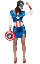 Sexy Captain America Girl pak voor dames - Verkleedkleding