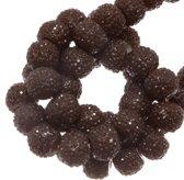Acryl Kralen Rhinestone (4 mm) Chestnut (45 Stuks)