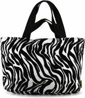 Mycha Ibiza XL shopper - strandtas - handtas - clutch - met rits - katoen jaquard – 708
