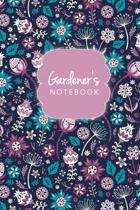 Gardener's Notebook Floral Journal Logbook And Gardening Tracker