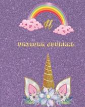 Unicorn Journal H: An activity book for writing and drawing for girls with your favorite character